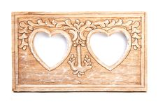 Wooden Frame For Photo Stock Image