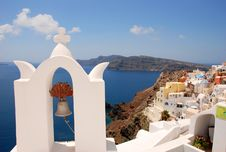 Landscape View In Santorini Royalty Free Stock Photography