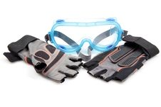Free Protective Goggle And Gloves Royalty Free Stock Image - 16007386