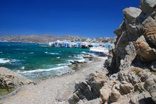 Mykonos Island, Greece Stock Photos