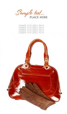 Free Stylish Women S Leather Bag Royalty Free Stock Images - 16007729