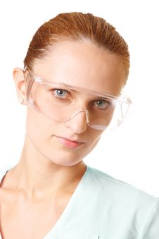 Free Portrait Of Female Doctor In Goggles Royalty Free Stock Photo - 16007785