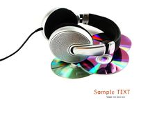 Free Headphones And CD Stock Photography - 16008432