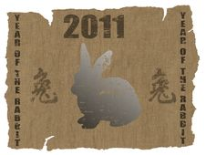 Free Chinese Year Of The Rabbit 2011 Royalty Free Stock Photos - 16008748