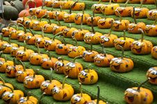 Free Rows Of Comical Painted Gourds Stock Photo - 16009520