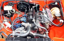 Free Car Engine And Pipes Stock Photography - 16009862