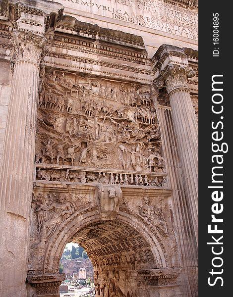 Forum Romano in Rome, Italy