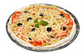 Free Uncooked Vegetarian Pizza Royalty Free Stock Photos - 16015148