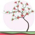 Free Retro Colorful Tree Royalty Free Stock Image - 16015366