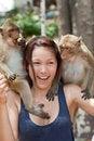 Free Girl With Monkey Stock Photo - 16016140