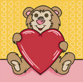 Free Bear Heart Royalty Free Stock Images - 16016879