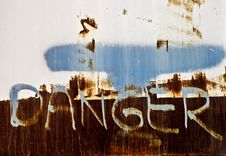 Free Rusty Danger Sign Stock Images - 16010544
