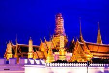Free Grand Palace And Wat Phra Kaeo Stock Photo - 16011110
