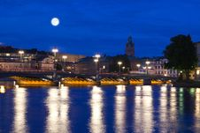 Free Night Scene Of The Stockholm Stock Photography - 16011292