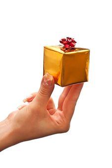Free Woman Holding Gift Box Stock Photos - 16011543