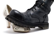 Free Domination Shoes Royalty Free Stock Photos - 16011578