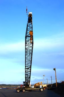 Free Long Arm Heavy Duty Crane. Stock Photos - 16011753