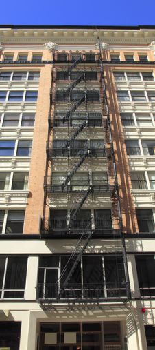 Free Fire Escape Ladders. Stock Image - 16011831