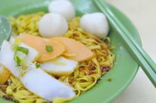 Oriental Fishball Noodles Royalty Free Stock Photo