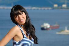 Free Portrait Of The Happy Girl Stock Image - 16012081