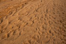 Sand Waves. Stock Photography