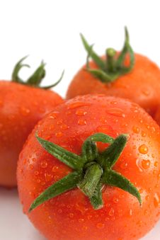 Free Three Tomatoes With Water Drops. Royalty Free Stock Photo - 16013515