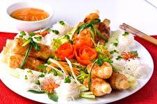 Free Shrimp Around Sugar Cane Stock Photo - 16013640