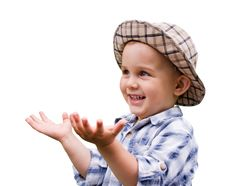 Portrait Of Little Kid Royalty Free Stock Images