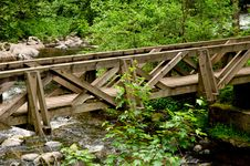 Free Wooden Bridge Royalty Free Stock Image - 16014126