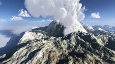 Free Volcanic Eruption On The Island Stock Photo - 16015640