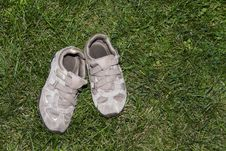 Free Shoes On Grass Royalty Free Stock Image - 16016056