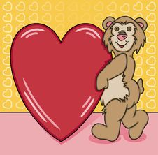 Free Bear Heart Too Stock Photography - 16016872