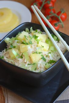 Pineapple Rice Royalty Free Stock Photography