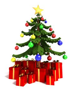 Free Christmas Tree And Gifts Royalty Free Stock Images - 16017449