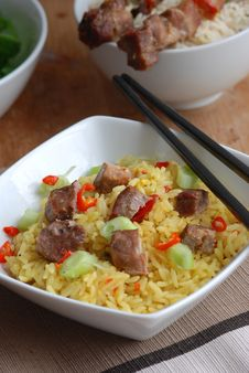 Free Pork With Rice Royalty Free Stock Photography - 16017487