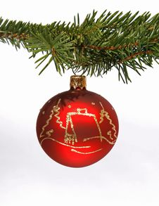 Free Red Christmas Ball Stock Photos - 16017853