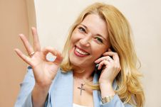 Free Businesswoman Showing Ok Sign Royalty Free Stock Photo - 16017885