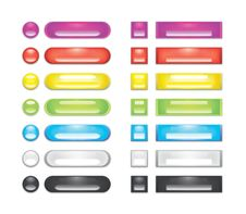 Free A Collection Of Rainbow Blank Web Buttons Stock Image - 16018261
