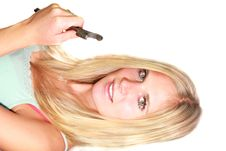 Free Sexy Blond Girl With Spanner Stock Image - 16018301