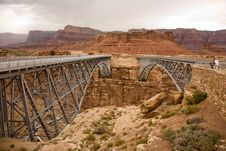 Free Old And New Navajo Bridge Royalty Free Stock Photo - 16018685