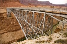 Free Bridge Over Marble Canyon Royalty Free Stock Photos - 16018698