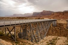 Old Railway Bridge Over Marble Canyon Stock Photo