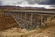 Free Old  Navajo Bridge Spans The Canyon Stock Photos - 16018823