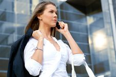 Free A Young And Attractive Businesswoman On The Phone Royalty Free Stock Photo - 16019725