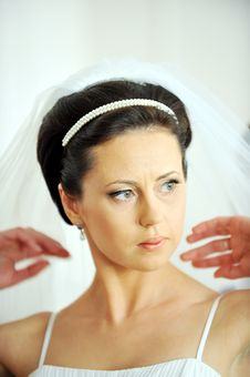 Free Portrait Of Beautiful  Bride Royalty Free Stock Images - 16019929