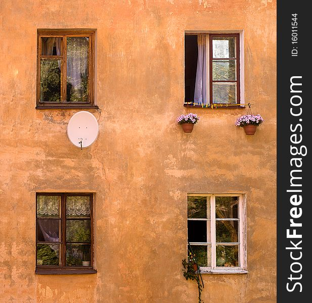 Old house windows