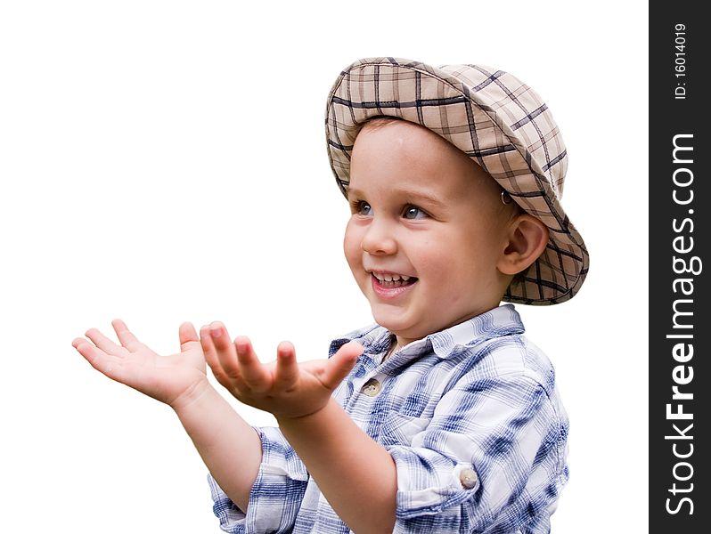 Portrait of little kid
