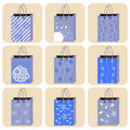 Free Shopping Bag Set Royalty Free Stock Images - 16023729