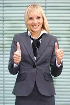 A Young And Attractive Blond Businesswoman