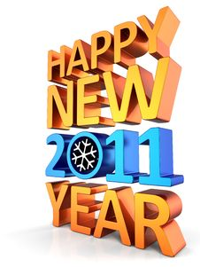 Free New Year 2011 (Hi-Res) Royalty Free Stock Photos - 16020898